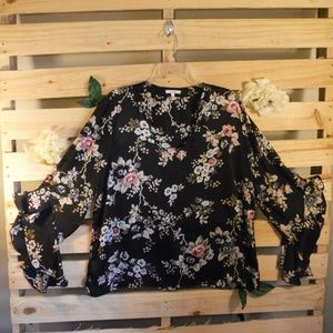 Black Maurice Blouse Floral Print